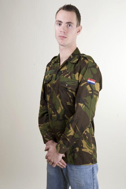 Verbazingwekkend Woodland camouflage jasje / blouse, lange mouw, zomer uitvoering YZ-93